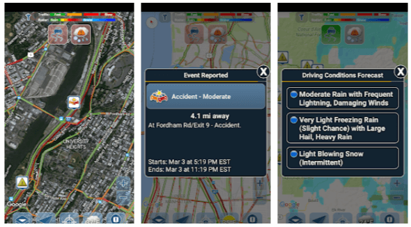 app per viaggiare in auto Traffic Reports