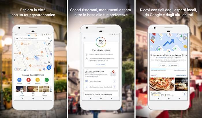 google maps app per ristoranti