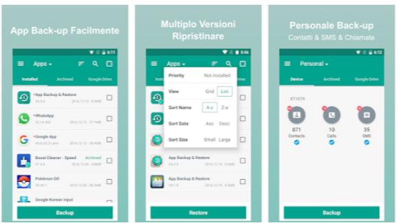 applicazione backup android