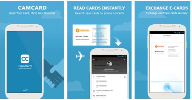 app biglietti da visita android CamCard Free