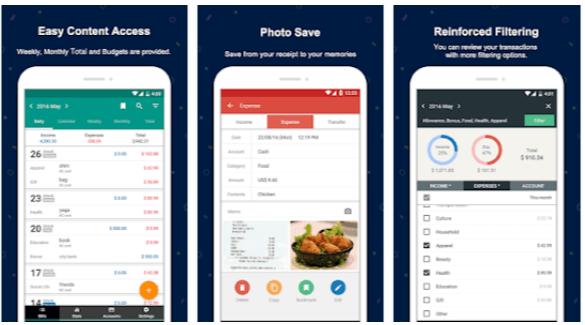 Money Manager Expense Budget - App