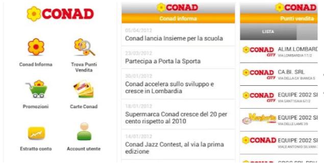 App lista spesa ConadApp