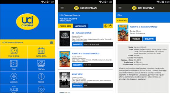 UCI CINEMAS ITALIA - App cinema Android