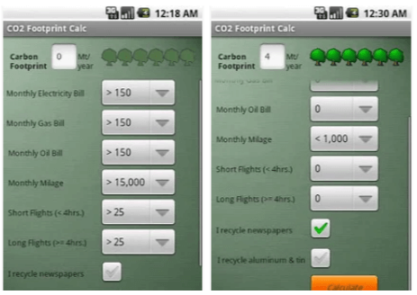 app impronta ecologica Green Footprint Calculator