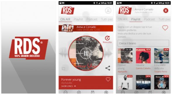 App radio Android RDS 100 Grandi Successi