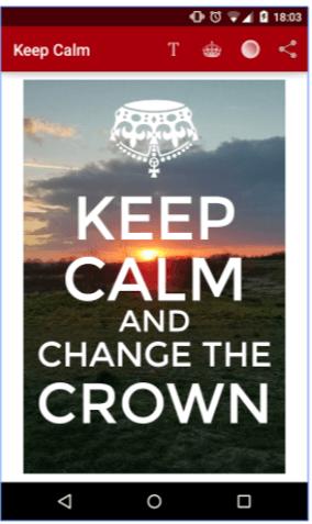Keep Calm App esempio realizzazione