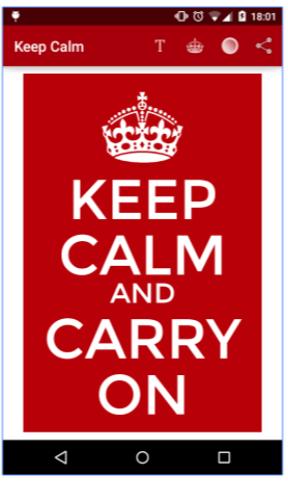Keep Calm App
