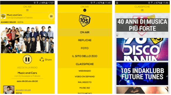 Radio 105 - App radio per Android
