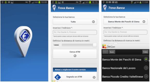 Trova Banca - App Bancomat Android