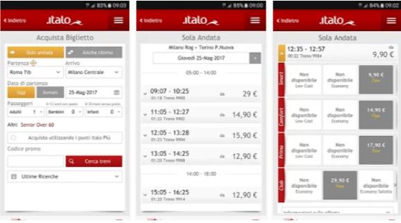 Italo Treno - App Android
