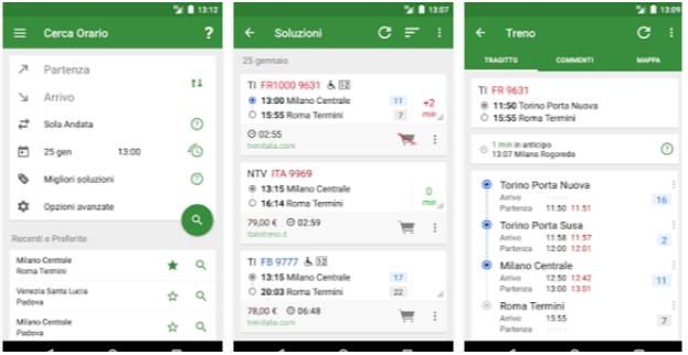 Orario Treni App Android