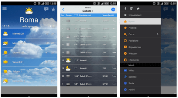 app meteo gratis le migliori per android. Black Bedroom Furniture Sets. Home Design Ideas