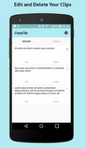 copia e incolla con Android