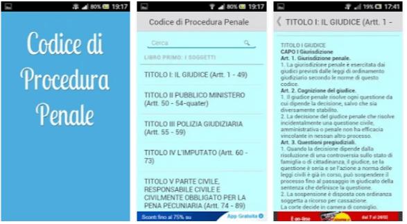 Codice di Procedura Penale - App per Smartphone Android