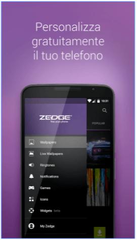 ZEDGE™ personalizzare Android