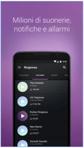 ZEDGE™ personalizzare suonerie Android