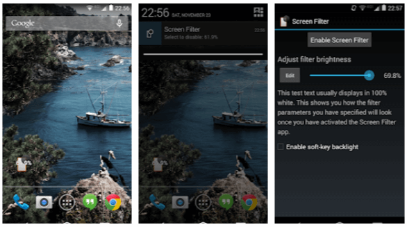 Screen Filter - App Android per risparmiare batteria