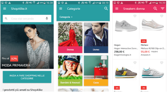 Applicazioni Shopping Online Shopalike