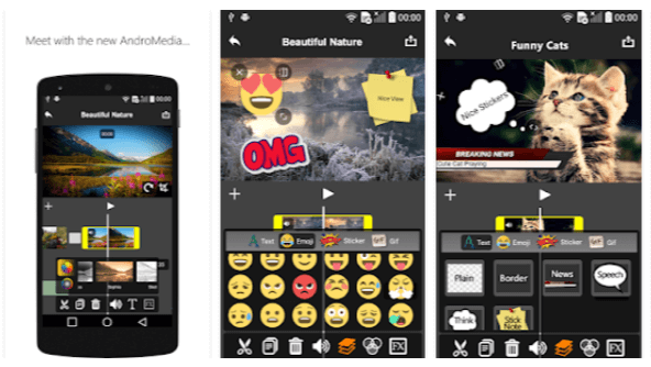 Video Editor AndroMedia - App per fare video