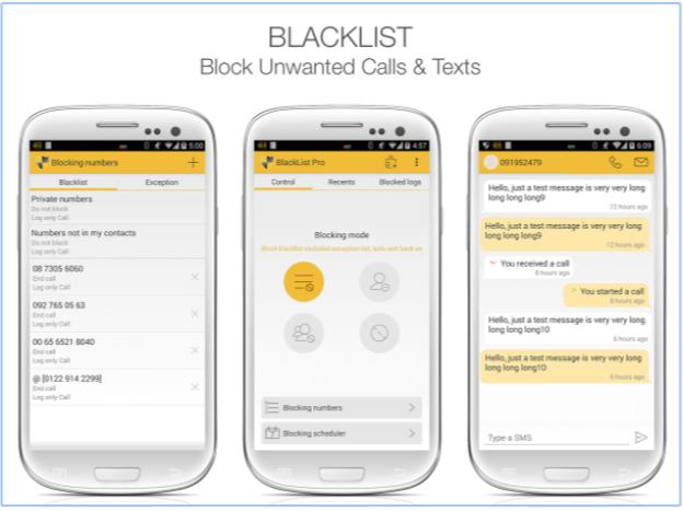 Lista nera Blacklist - App Android