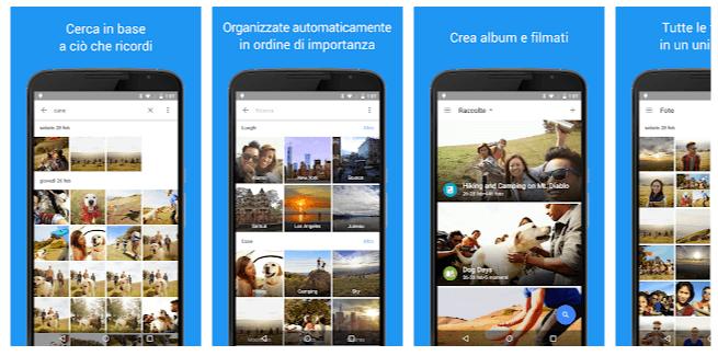 app galleria google foto