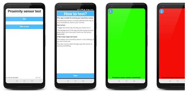 Proximity sensor test - App android