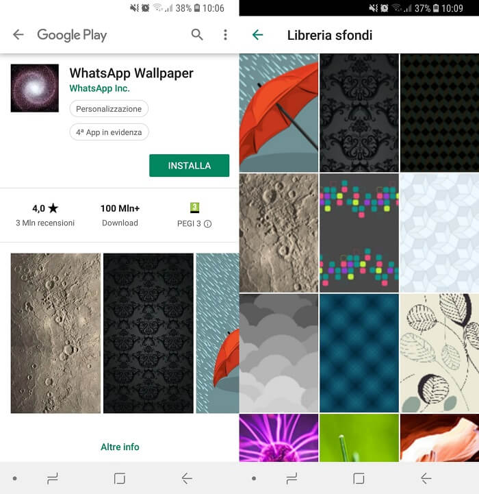 Sfondi whatsapp android gratis